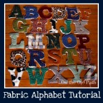 Fabric alphabet