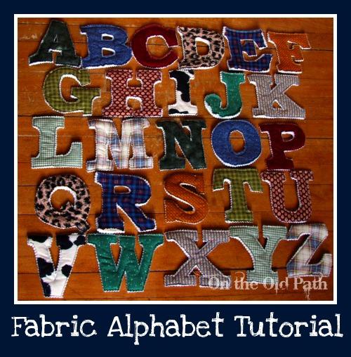 fabric alphabet letters tutorial